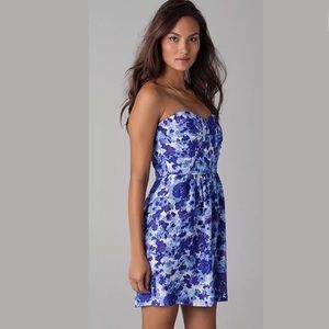 Anthropologie Shoshanna Blue  Floral 10